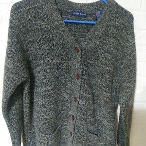 Karen Scott gray cardigan sweater - size large